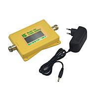 mini intelligent display mobiltelefon 850mhz signal booster cdma 800mhz signal repeater med strømforsyning gul