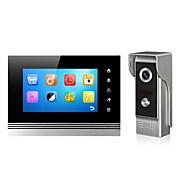 מסך מתכת 7 אינץ 'צבע handfree וידאו דלת הטלפון פונקציית זיכרון עם ראיית לילה