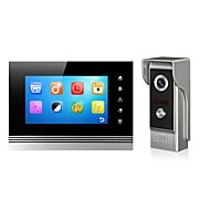 Metal Screen 7 Inch Color Handfree Video Door Phone Memory function with Night Vision