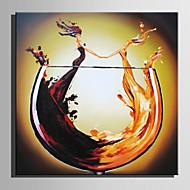 billiga Oljemålningar-Hang målad oljemålning HANDMÅLAD - Abstrakt Abstrakt Duk