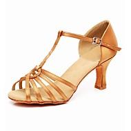 cheap Dance Shoes-Women's Latin Fabric Heel Training Cuban Heel Black Red Nude