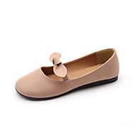 Naiset Kengät PU Kevät Comfort Tasapohjakengät Tasapohja Käyttötarkoitus Kausaliteetti Beesi Pinkki Kameli