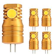 billige Bi-pin lamper med LED-5pcs 2W 180 lm G4 LED-lamper med G-sokkel T 4 leds COB Varm hvit