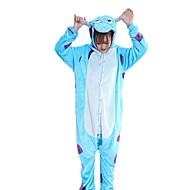 Kigurumi Pyžama Komiks Modrá Monster Kostýmový overal Pyžama Kostým Fanila Kumaş Modrá Cosplay Pro Dospělé Animal Sleepwear Karikatura
