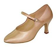 billige Moderne sko-Dame Moderne sko Silke Sandaler Spenne Kubansk hæl Kan spesialtilpasses Dansesko Svart / Brun / Naken / Ytelse