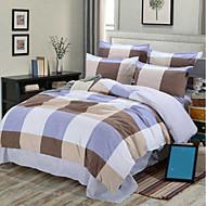 Bohemian 4 Piece Cotton Cotton 4pcs (1 Duvet Cover, 1 Flat Sheet, 2 Shams)