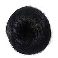 Parykk syntetiske kvinner syntetisk hår chigon svart bun chigons krøllete frisyre