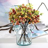 billige Kunstige blomster-5 deler 5 Gren Silke Styropor Polyester Planter Bordblomst Kunstige blomster