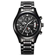 SINOBI Pánské Sportovní hodinky Vojenské hodinky Náramkové hodinky japonština Křemenný Kov Nerez Černá 30 m Voděodolné Kalendář kreativita Analogové Přívěšky Luxus Vintage Na běžné nošení Módní -
