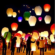 cheap Candles & Candleholders-10Pcs/Set    Multi Color High Quality Chinese Lantern Fire Sky Fly Candle Lamp For Birthday Wedding Party Lantern Wish Lamp Sky Lanterns