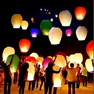 10pcs / set multi cor de alta qualidade lanterna chinesa fogo céu voa vela lâmpada para festa de casamento aniversário lanterna luzes de