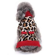preiswerte Bekleidung & Accessoires für Hunde-Katze Hund Mäntel Pullover Weihnachten Hundekleidung Party Cosplay Lässig/Alltäglich warm halten Hochzeit Neujahr Leopard Leopard Kostüm