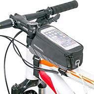 Sykkelveske Vesker til sykkelramme Reflekterende Stripe Anvendelig Lettvekt Sykkelveske Nylon Sykkelveske Alle Mobiltelefon Sykling