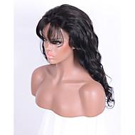 Ljudska kosa Lace Front Perika Wavy Sa šiškama 130% Gustoća 100% rađeno rukom Afro-američka perika Prirodna linija za kosu 16 inča 18