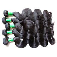 Toptan indian vücut dalga bakire saç 5bundles 500g çok iyi saç kalitesi malzeme orijinal insan saçı doğal siyah renk yaptı