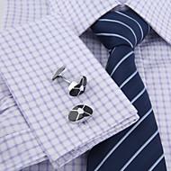 Dugme za manšetu Tie Bar Tie Clip Moda Poklon kutije i vrećice Mandzsettagombok Muškarci Mužjak Srebrna