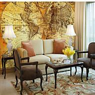 billige Tapet-3D Mønstret Kart Hjem Dekor Moderne / Nutidig Tapetsering, Lerret Materiale selvklebende nødvendig Veggmaleri, Tapet