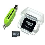 baratos -Cartão de memória 32gb microsdhc tf com 2 em 1 leitor de cartões usb otg micro usb otg