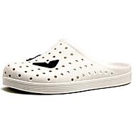 お買い得  メンズクロッグ&ミュール-男性用 靴 PUレザー ラバー 夏 コンフォートシューズ サンダル のために カジュアル アウトドア ホワイト ブラック