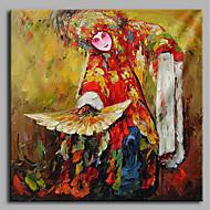 billiga Människomålningar-Hang målad oljemålning HANDMÅLAD - Människor Artistisk Kinesisk stil Duk