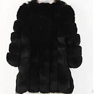 Χαμηλού Κόστους -Γυναικεία Μεγάλα Μεγέθη Γούνινο παλτό Μονόχρωμο Ψεύτικη Γούνα