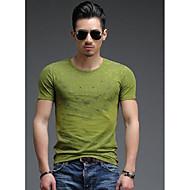 Majica s rukavima Muškarci - Aktivan Jednobojni Okrugli izrez Pamuk