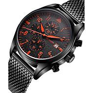 Homens Relógio de Pulso Único Criativo relógio Relógio Casual Relógio Madeira Relógio Esportivo Relógio de Moda Quartzo Calendário Aço
