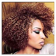 Tranças Encaracoladas 2pcs / pack Tranças de Cabelo Afro Jheri Curl Weave Curly Encaracolado 8 polegadas Cabelo Toyokalon Loiro Morango