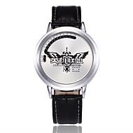 billige Quartz-Herre Dame Quartz Digital Watch Kinesisk LED Legering PU Bånd Kreativ Afslappet Tegneserie Unikke kreative ur Mode Sort Brun