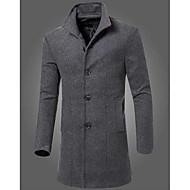 Bărbați Rever Peaked Palton Casul/Zilnic Simplu,Mată Mânecă Lungă Toamnă Iarnă-Lung Altele