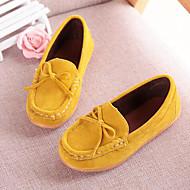 お買い得  女の子用靴-女の子 靴 マイクロファイバー 夏 / 秋 コンフォートシューズ / モカシン ローファー&スリップアドオン リボン のために Brown / ブルー / ワイン / パーティー