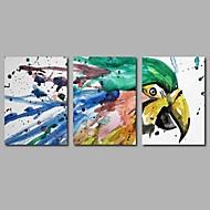 billiga Djurporträttmålningar-HANDMÅLAD Djur Horisontell Panoramautsikt, Artistisk Abstrakt Födelsedag Häftig Yrke/Affär Modern Nyår Jul Duk Hang målad oljemålning