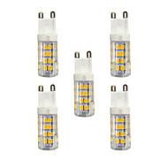 baratos Luzes LED de Dois Pinos-5pçs 3W 240lm G9 Luminárias de LED  Duplo-Pin T 51 Contas LED SMD 2835 Branco Quente / Branco 220-240V / RoHs