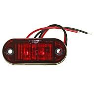 sencart 10db 2led red led clearance oldalsó markolótargonca autó pótkocsi lámpa 9-30v