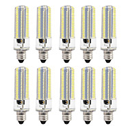 billige Kornpærer med LED-BRELONG® 8W 700 lm LED-kornpærer 152 leds SMD 3014 Mulighet for demping Varm hvit Hvit AC110 AC220