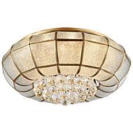 europeisk stil alt-kobber absorpsjonslampe atmosfære amerikansk stue bronse lampe moderne enkel spisestue sirkulær LED krystall lampe