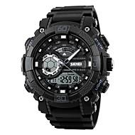 skmeiメンズスポーツ時計は、デジタルデュアルディスプレイ腕時計のクロノグラフアラーム50メートルの防水時計relogio masculino 1228を導いた