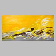 billiga Abstrakta målningar-Hang målad oljemålning HANDMÅLAD - Abstrakt Artistisk Abstrakt Utomhus Duk
