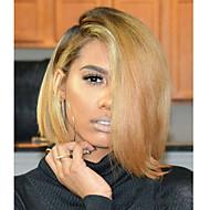 Γυναικείο Περούκες από Ανθρώπινη Τρίχα Βραζιλιάνικη Φυσικά μαλλιά Πλήρης Δαντέλα 130% Πυκνότητα Κούρεμα καρέ Κούρεμα με φιλάρισμα Με