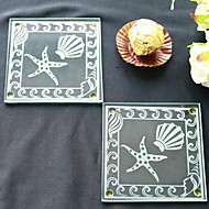 strand tema glass coasters - 2pcs / box - beter gaver ® bryllup favoriserer