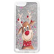 For iPhone X iPhone 8 iPhone 8 Plus iPhone 7 iPhone 7 Plus Case Cover Flowing Liquid Pattern Back Cover Case Glitter Shine Christmas Hard