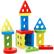 知育玩具 ウッドパズル 円筒形 三角形 長方形 男女兼用