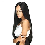 נשים פיאות תחרה משיער אנושי שיער ברזיאלי שיער אנושי תחרה מלאה 120% צְפִיפוּת עם שיער תינוקות ישר פאה שחור שחור בינוני לנשים שחורות 100%
