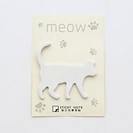 Conjunto de notas auto-adesivas de design de gato de 1 pc (cor aleatória)