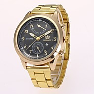 Homens Relógio Elegante Relógio de Moda Relógio de Pulso Chinês Quartzo imitação de diamante Lega Banda Casual Elegantes Dourada