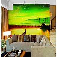 billige Tapet-Himmel Natur og landskap Klassisk Hjem Dekor Pastorale Stilen Tapetsering, Lerret Materiale selvklebende nødvendig Veggmaleri, Tapet
