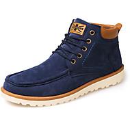 Miehet kengät PU Syksy Talvi Comfort Muotisaappaat Bootsit Solmittavat Käyttötarkoitus Kausaliteetti Musta Keltainen Sininen