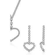 Žene Viseće naušnice Ogrlice s privjeskom Kristal Kubični Zirconia Kristal Zircon Neregularan Srce Luksuz Moda Vjenčanje Angažman