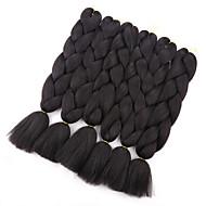 """abordables -24 """"100g kanekalon jumbo tressage cheveux synthétique crochet tresses extensions de cheveux 1 pièce / lot"""