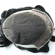 7x9 swiss dantel erkekler toupee erkek saç sistemleri parçaları yerine doğal dalgalı erkekler saç
